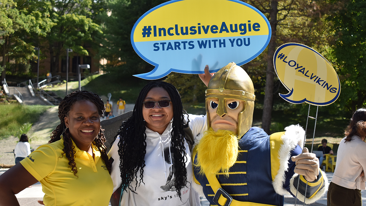 Dr. Smith celebrates Inclusive Augie