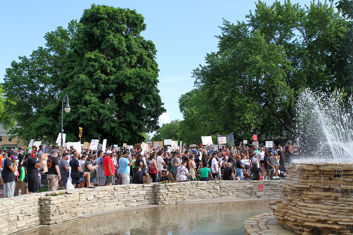 Black Lives Matter Protest in Davenport, Iowa