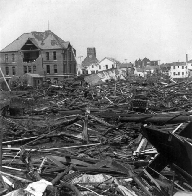 Aftermath of Galveston Hurricane