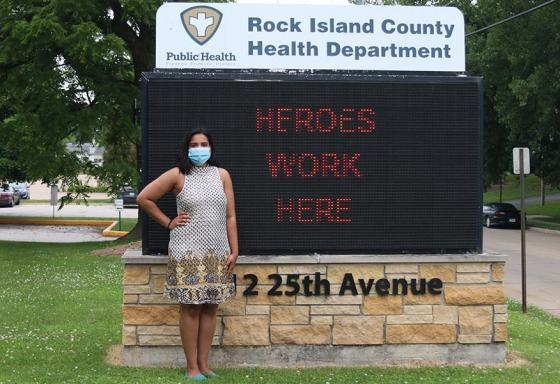 Krishna Marme poses for a photo during a public health internship